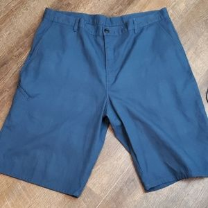 Dickies blue cargo plaid embossed shorts